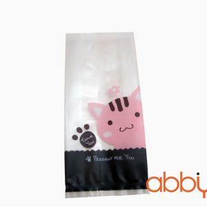 Túi cookies mèo thank you 15x7cm (10 chiếc)