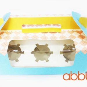 Hộp cupcake pastel (6 ô)