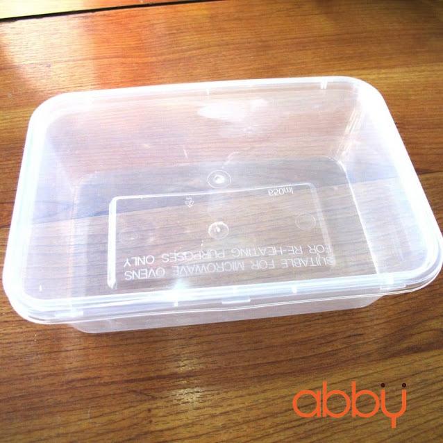 Hộp nhựa cứng chữ nhật có nắp