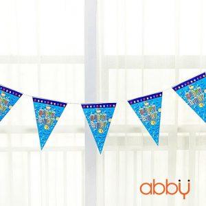 Dây cờ trang trí sinh nhật Happy birthday xanh da trời