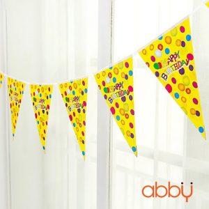 Dây cờ trang trí sinh nhật Happy birthday vàng