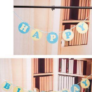 Dây chữ trang trí sinh nhật Happy Birthday màu xanh lam