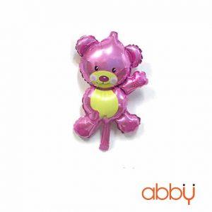 Bóng bay gấu Misa màu hồng