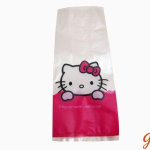 Túi cookies Kitty hồng 23x9cm (10 chiếc)
