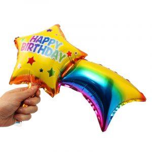 Bóng bay sao băng Happy birthday