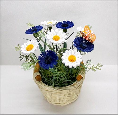 Những giỏ hoa giấy bắt mắt từ giấy quilling