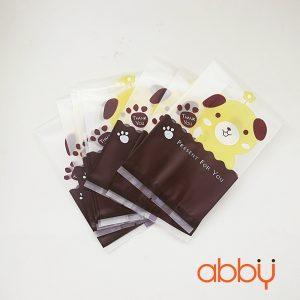 Túi cookies gấu thank you 15x7cm (10 chiếc)