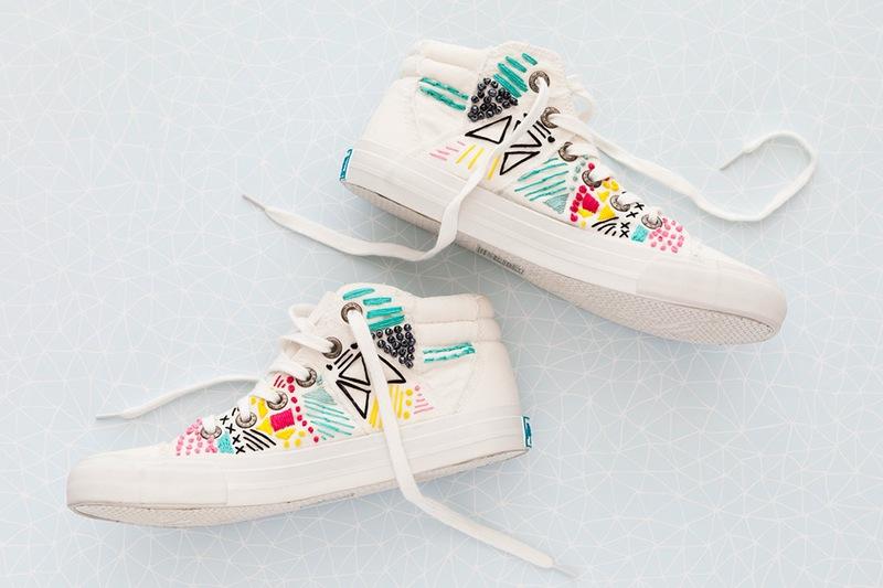 Thêu giày thể thao độc nhất vô nhị cực kỳ phong cách