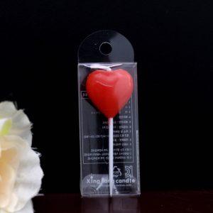 Nến trái tim đỏ