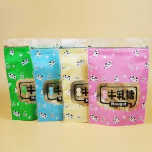 Túi zip in hình 20x15x6cm hình bò sữa (5 chiếc)
