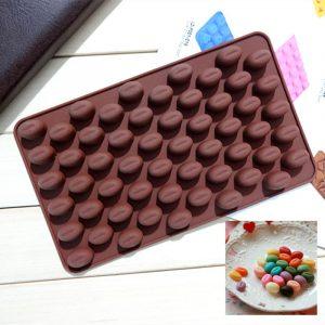 Khuôn kẹo silicon 55 viên hạt cafe