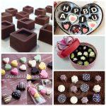 Đa dạng các hình dáng của chocolate