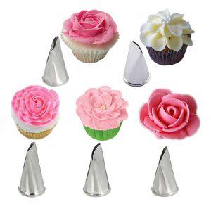Bộ 5 đui bắt kem hoa hồng
