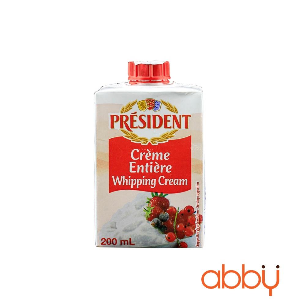 Kem Whipping President 200ml