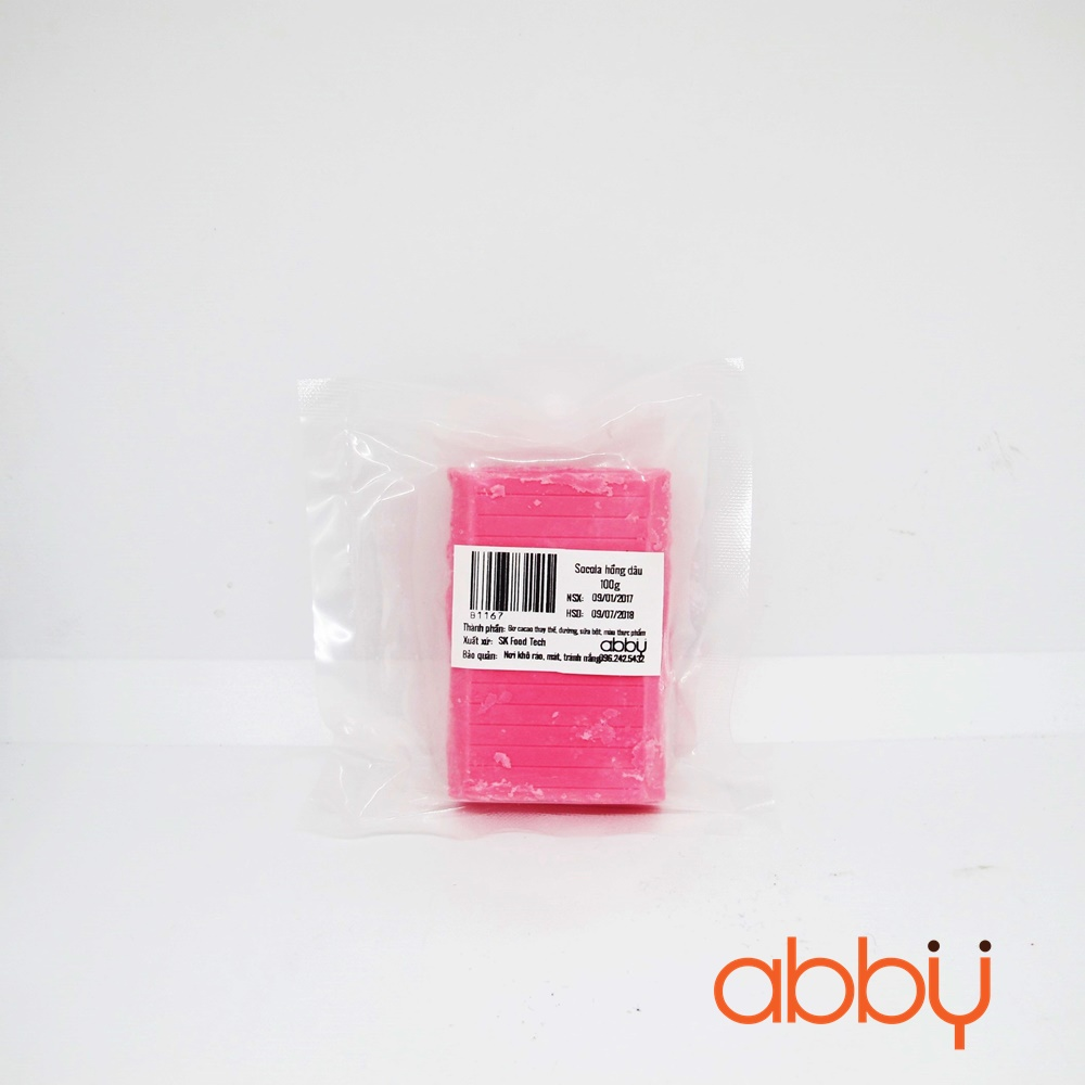 Socola hồng dâu 100g