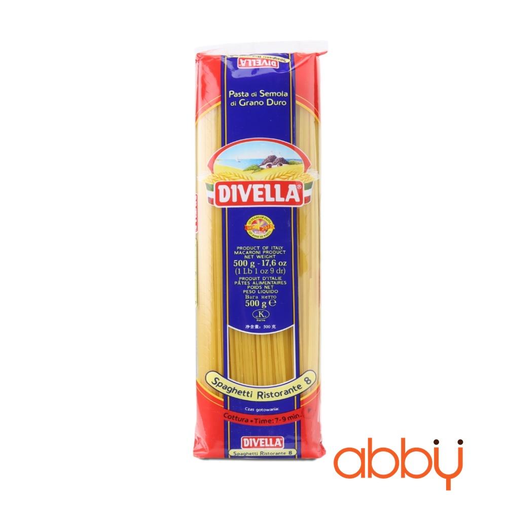 Mì Ý Spaghetti số 8 Divella 500g