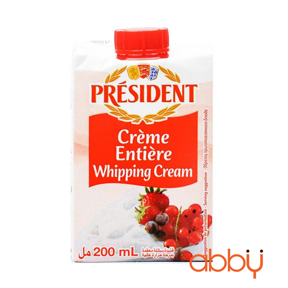 Kem Whipping President 200ml