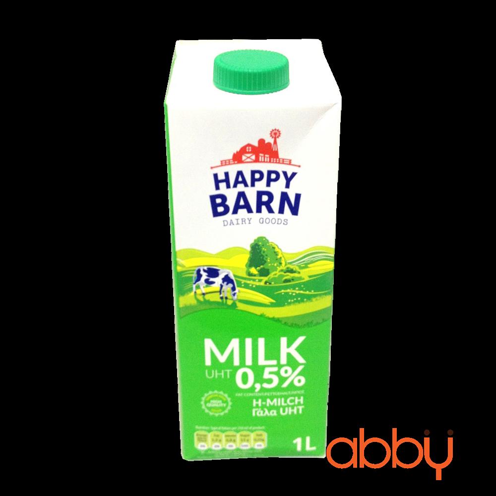 Sữa tươi ít béo 0,5% Happy Barn 1L