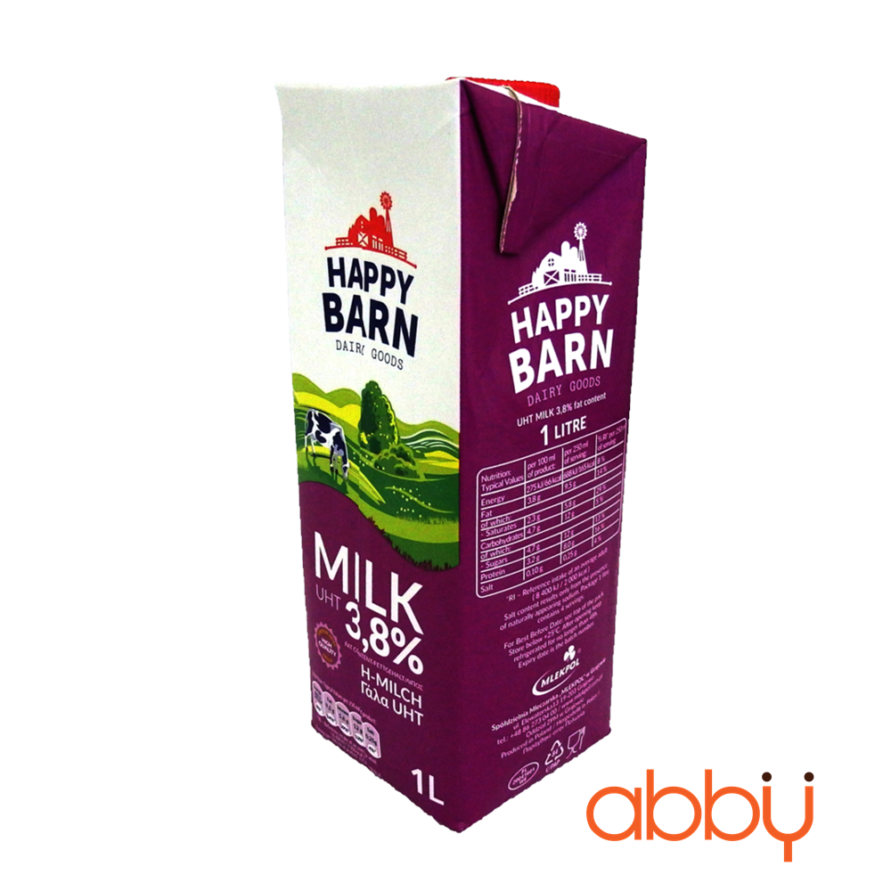 Sữa tươi nguyên kem 3,8% Happy Barn 1L