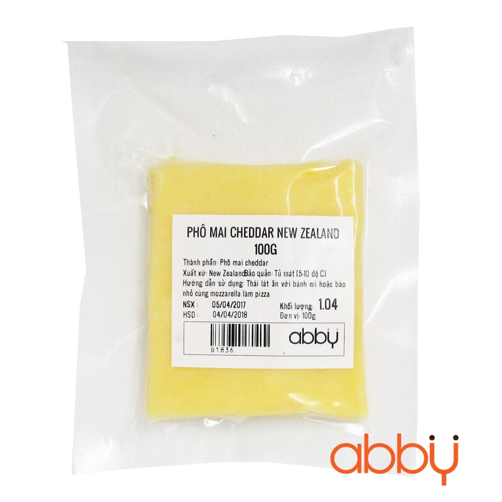 Phô mai cheddar New Zealand 100g