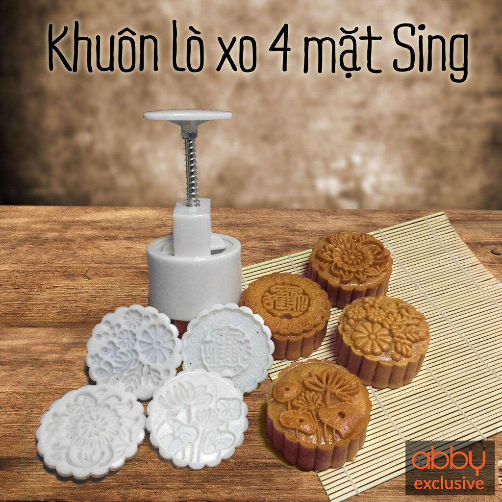 Khuôn Trung Thu lò xo 125-150g 4 mặt Sing