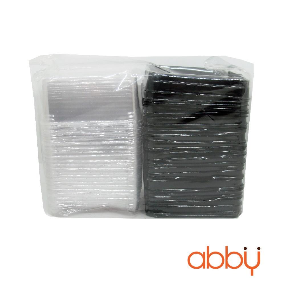 50 bộ hộp đế đen nắp trong 125g