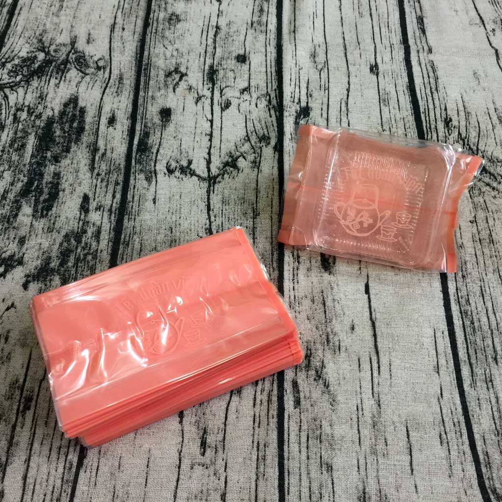 Túi đựng bánh trung thu 125-150g ấm trà hồng (100 túi)