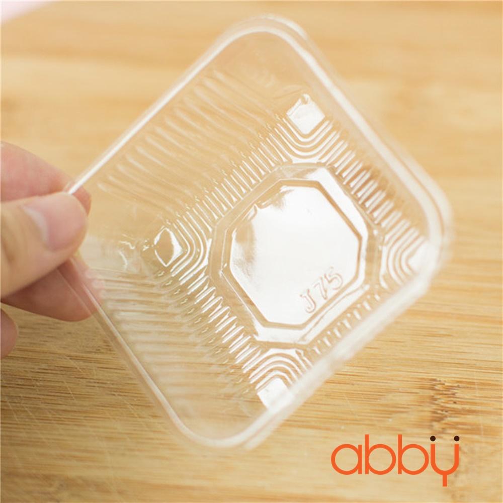 Khay nhựa 9cm đựng bánh 125-150g (12 khay)