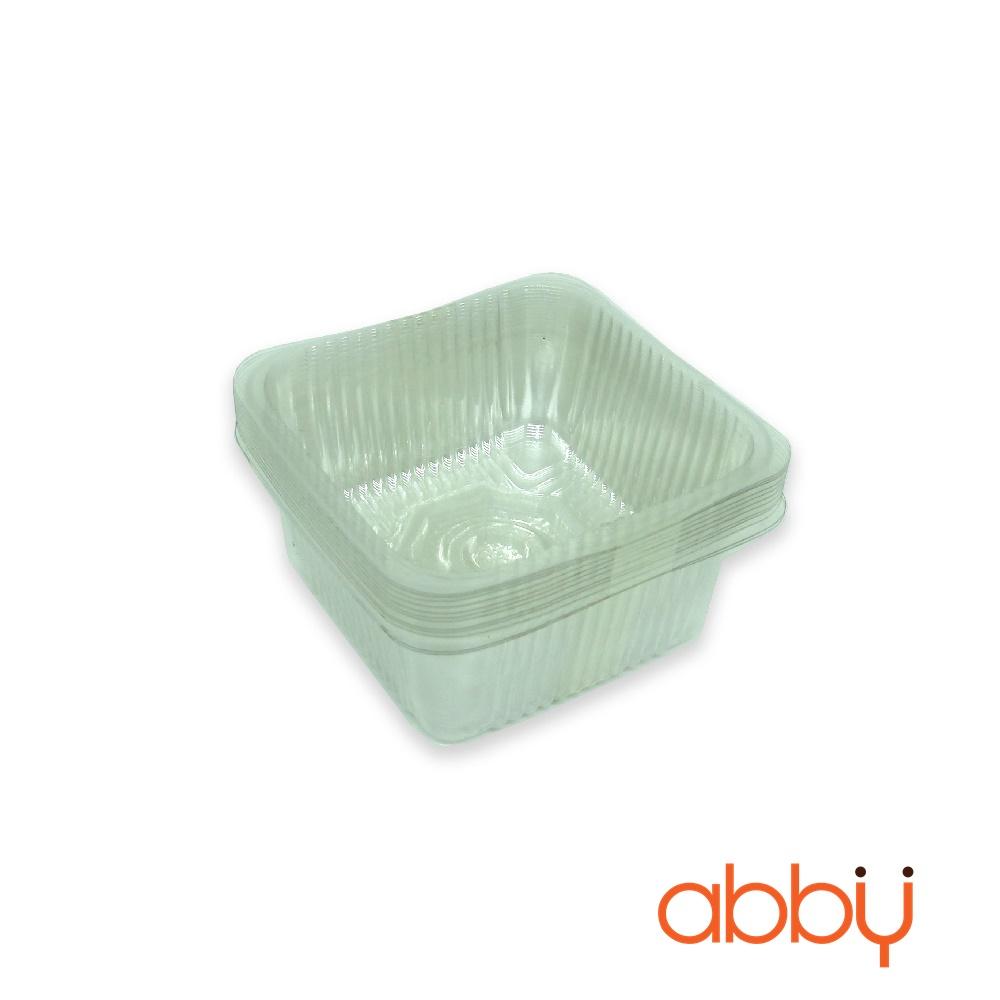 Khay nhựa 7cm đựng bánh 50-75g (12 chiếc)