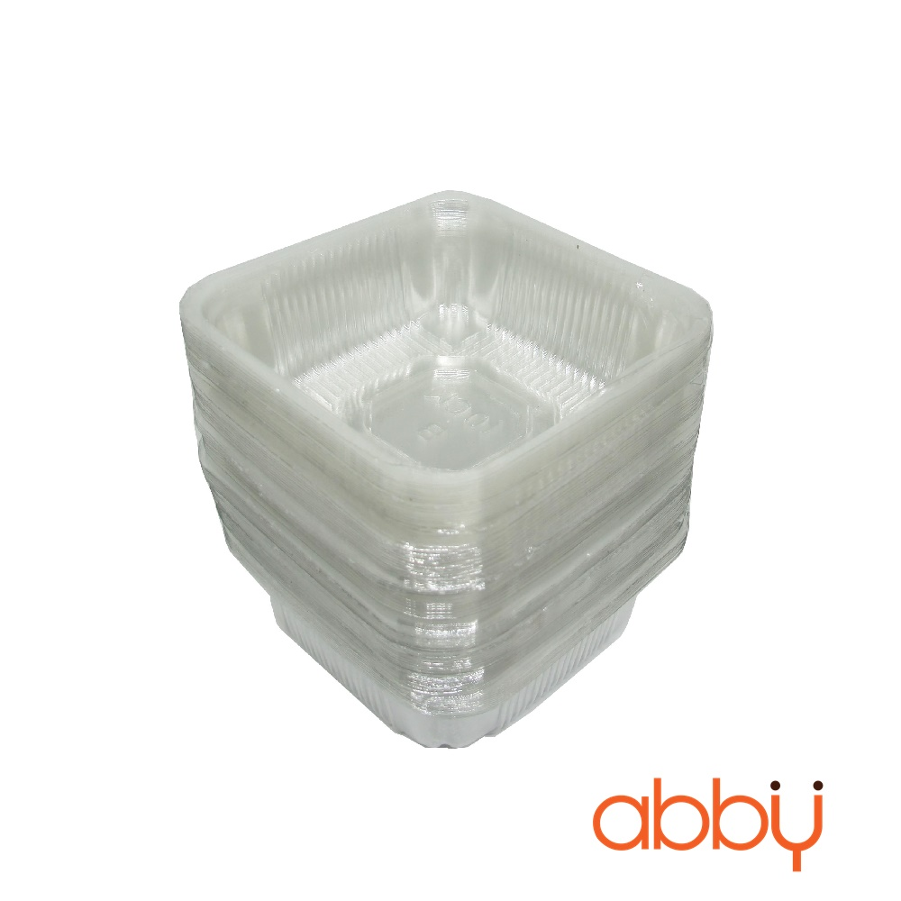 Khay nhựa 10cm đựng bánh 200-250g (300g - khoảng 100 chiếc)