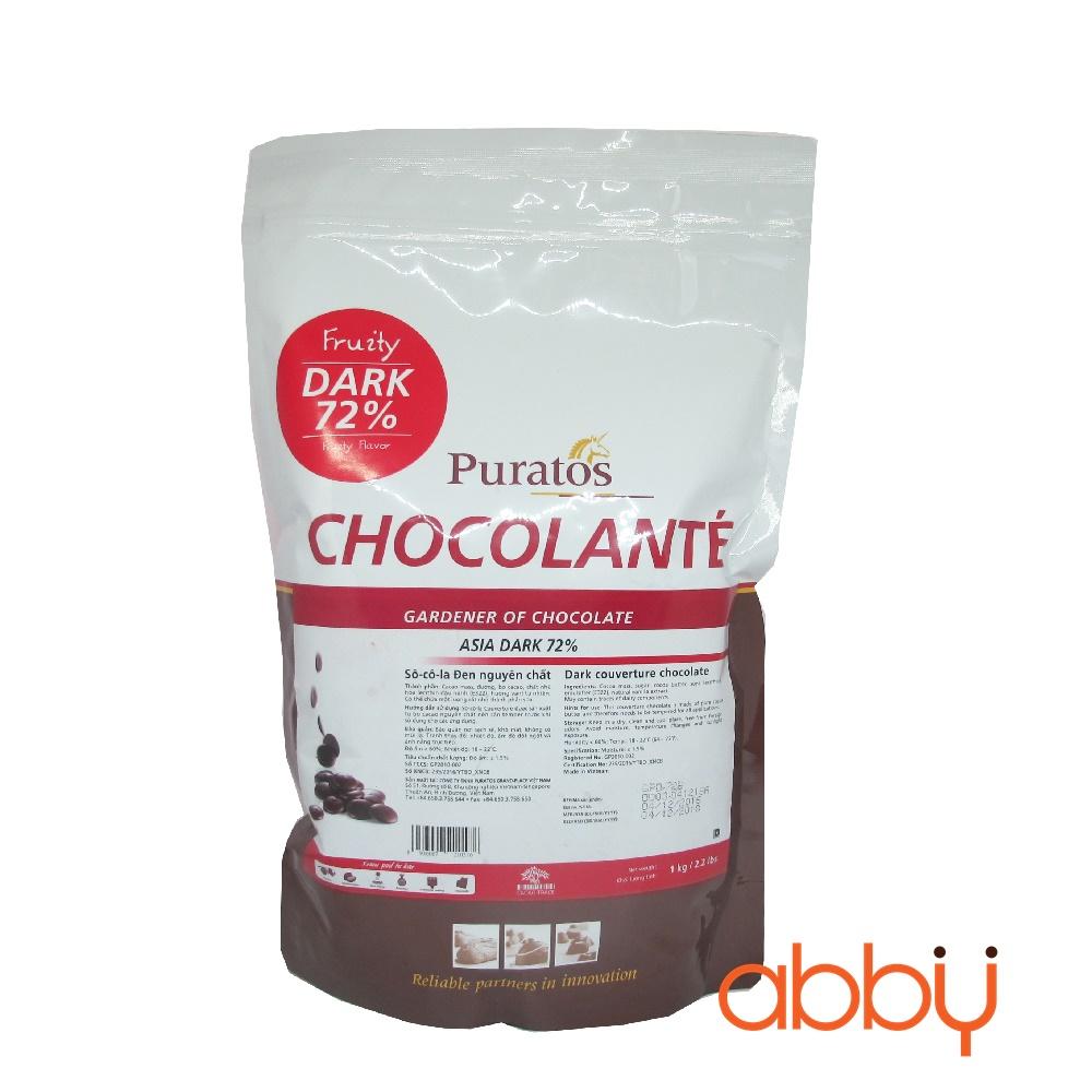 Socola đen nguyên chất 72% Grand Place 1kg
