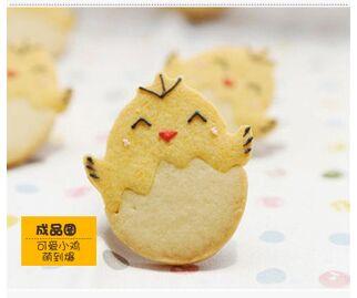 Khuôn cookies 2D gà con