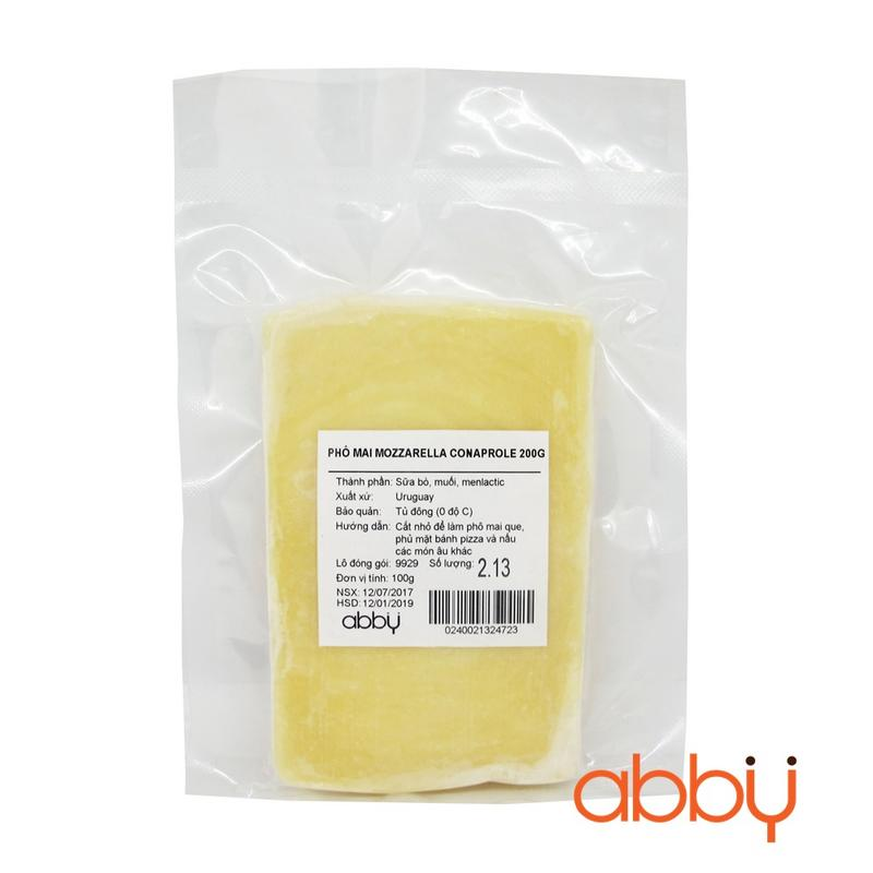 Phô mai mozzarella Conaprole 200g (đơn vị 100g)