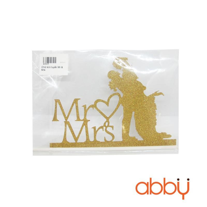 Chữ kim tuyến Mr & Mrs