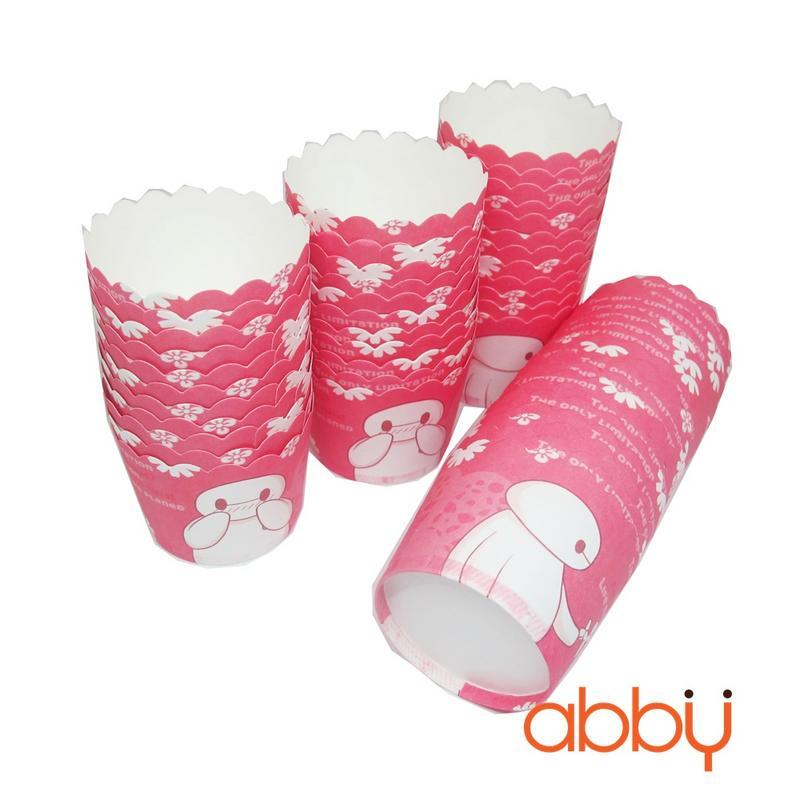 Cup giấy cứng 6x5cm mẫu Baymax (48 - 50 chiếc)