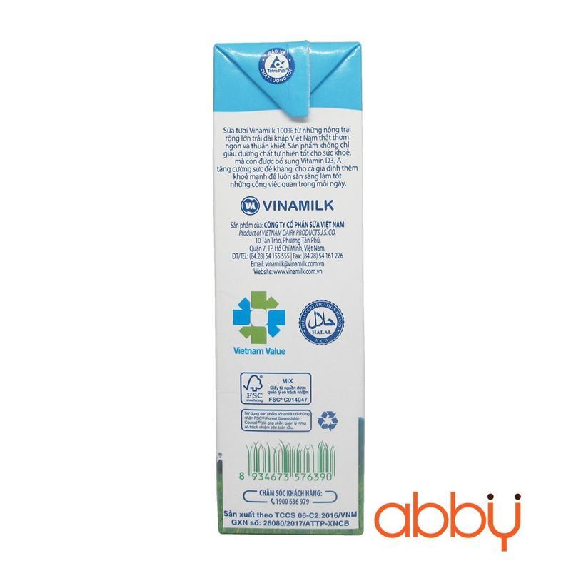 Sữa tươi không đường Vinamilk 1L