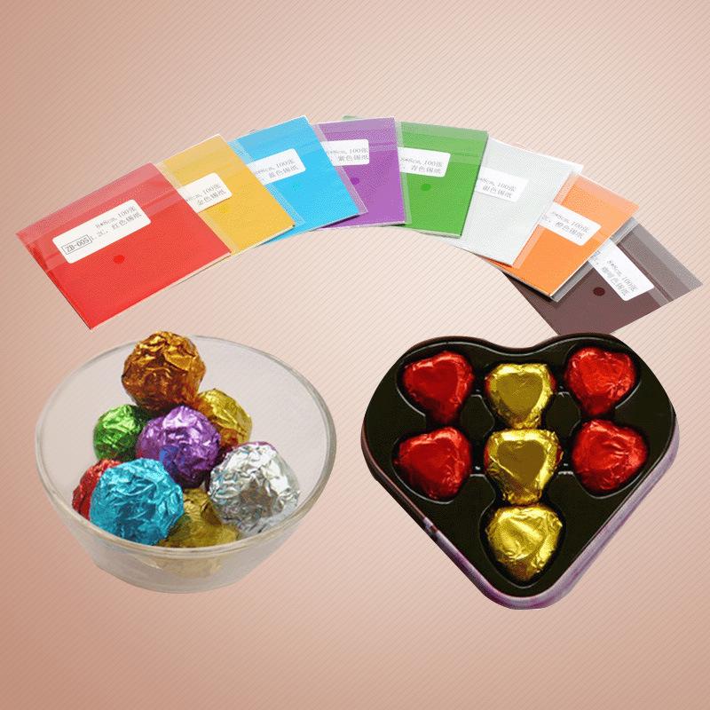 Giấy bọc socola nhiều màu 10x10cm (95 - 100 tờ)