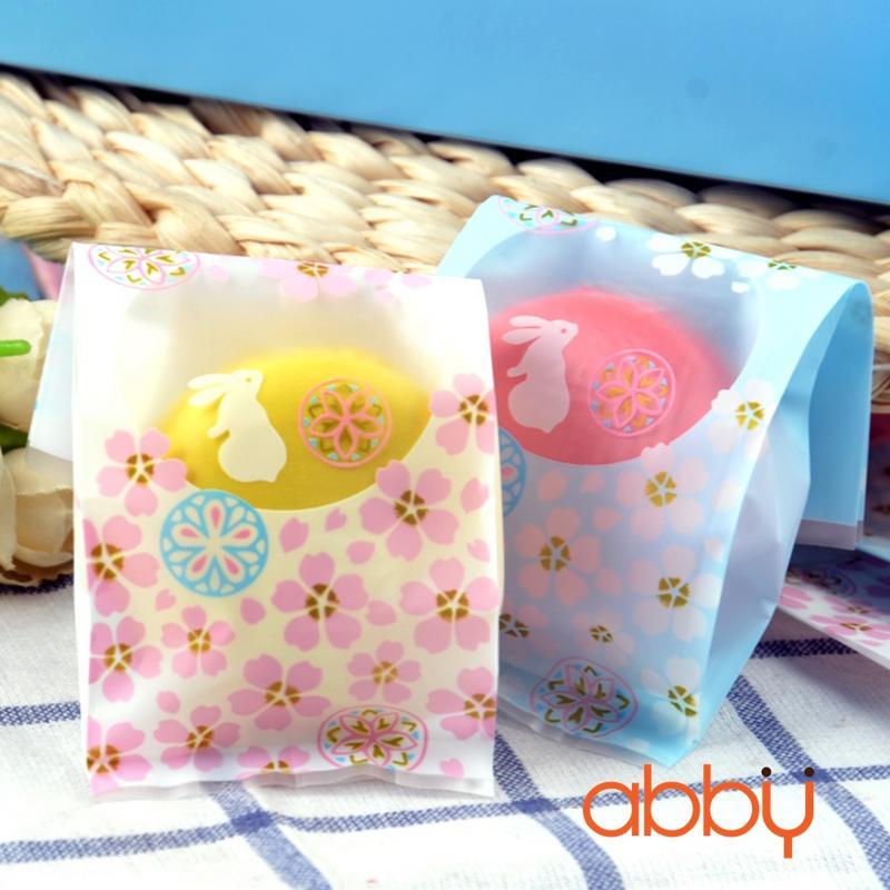 Túi đựng bánh dứa thỏ ngọc 5.5x13.5cm (48 - 50 chiếc)