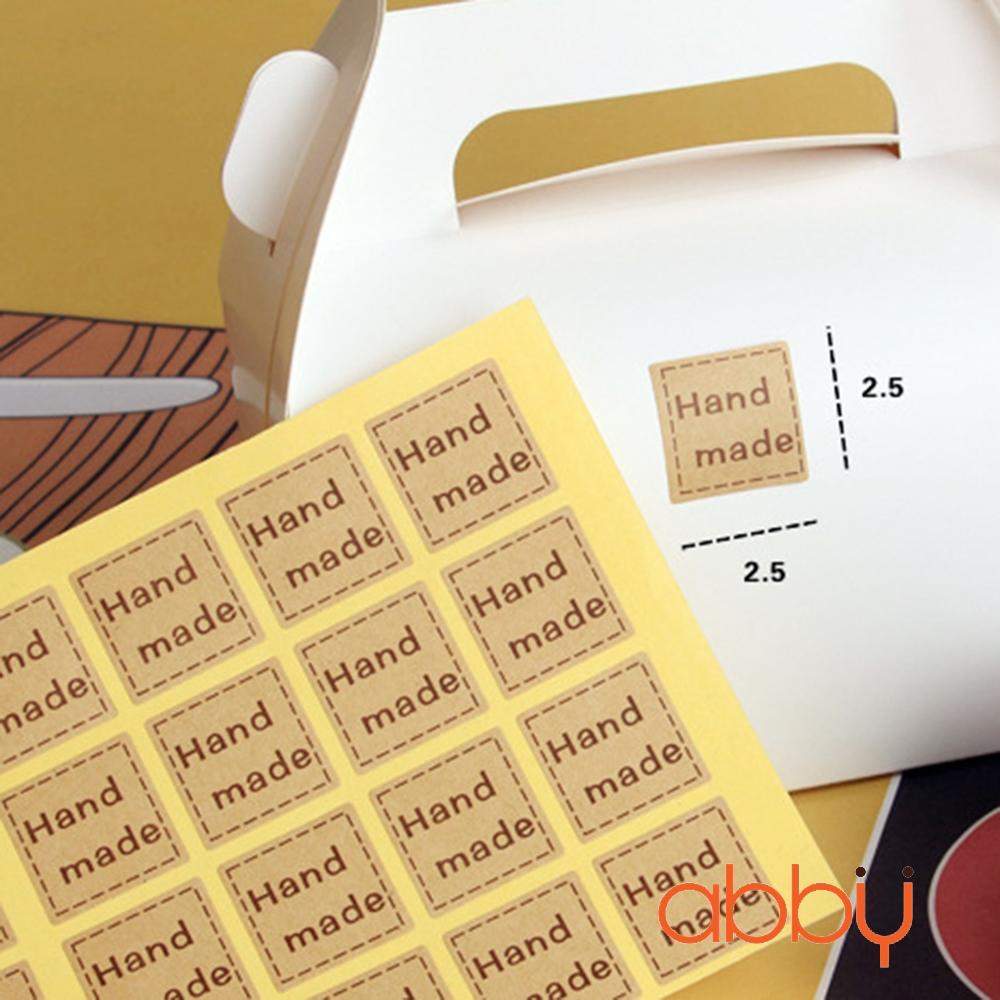 Hình dán handmade vuông (48 miếng 1 tờ)