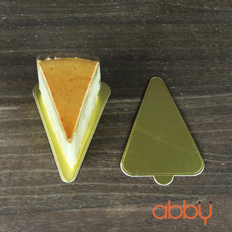 Đế bánh tam giác vàng 12x8cm (10 chiếc)