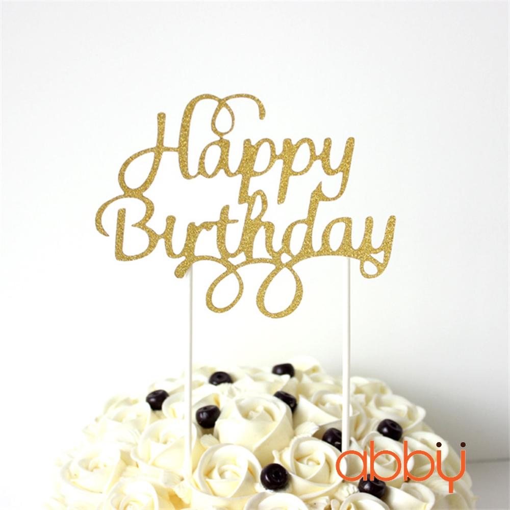 Chữ kim tuyến Happy birthday mẫu 1