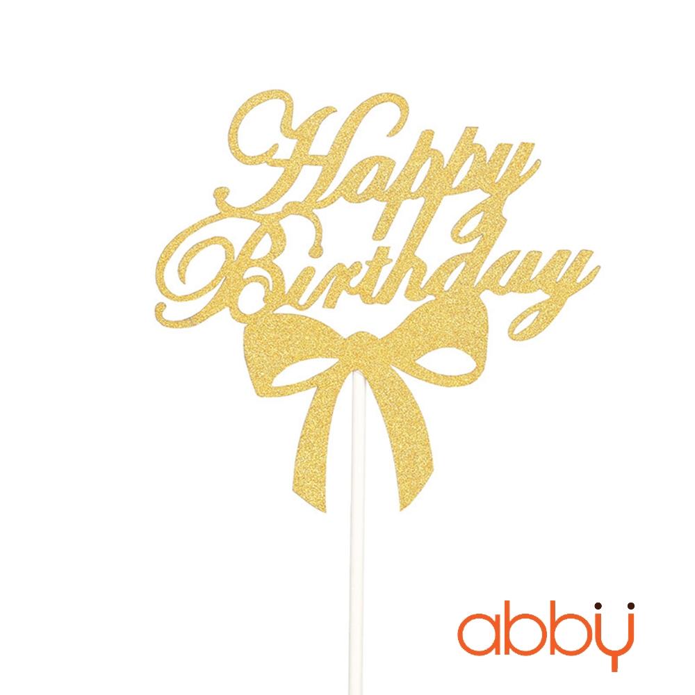 Chữ kim tuyến Happy birthday mẫu 2