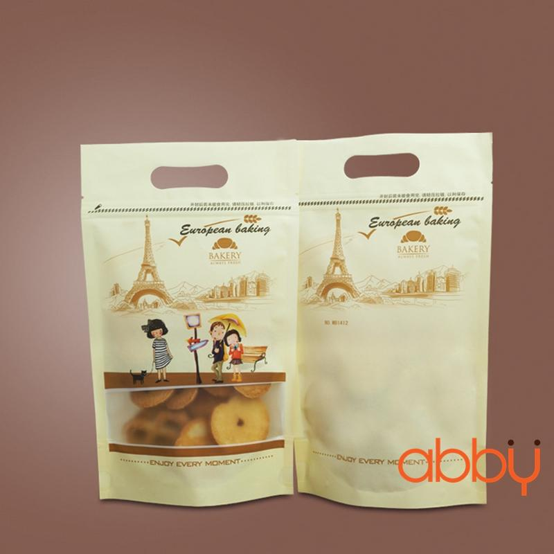 Túi zip in hình 21x15cm tháp Eiffel (5 chiếc)