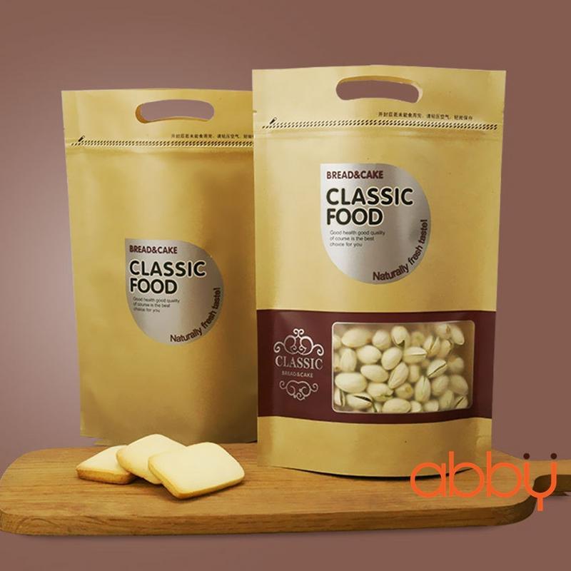 Túi zip xi măng 27x18cm Classic food (5 chiếc)