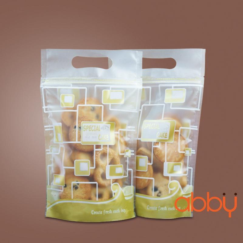 Túi zip in hình 18x14cm Special cake (5 chiếc)