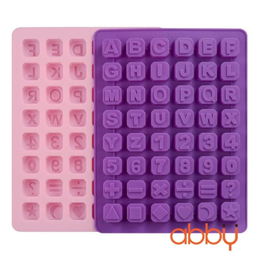 Khuôn silicon 48 viên chữ và số