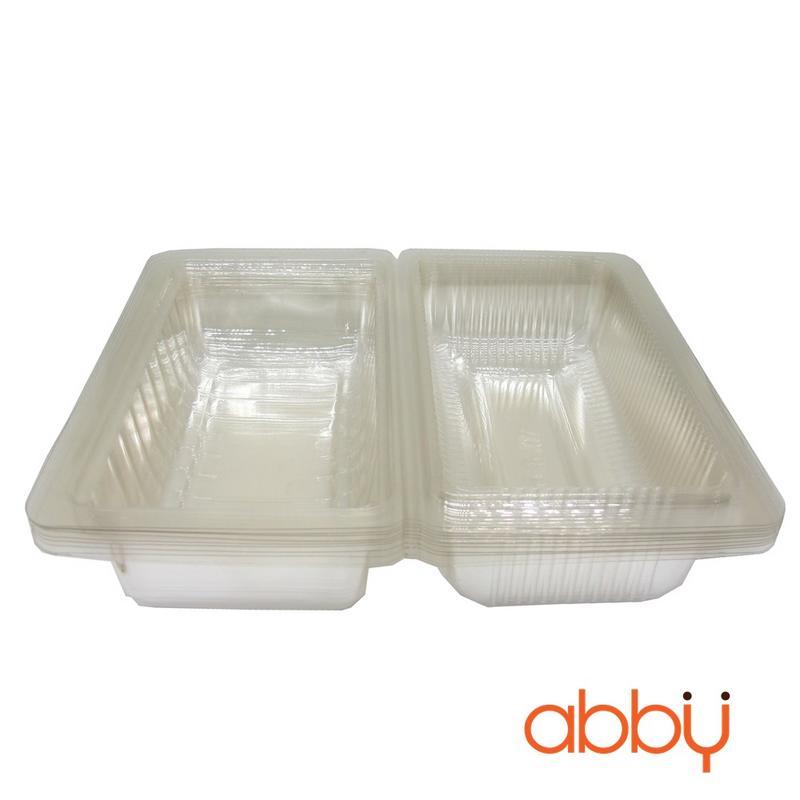 Hộp nhựa đựng bánh hình chữ nhật H-07 (10 chiếc)