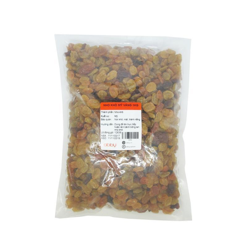 Nho khô Mỹ vàng 1kg
