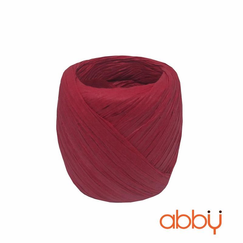 Dây buộc túi cuộn tròn màu đỏ (20m)