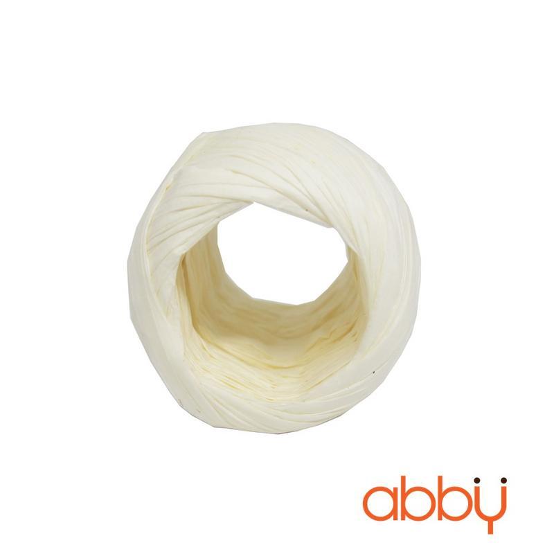 Dây buộc túi cuộn tròn màu trắng (20m)